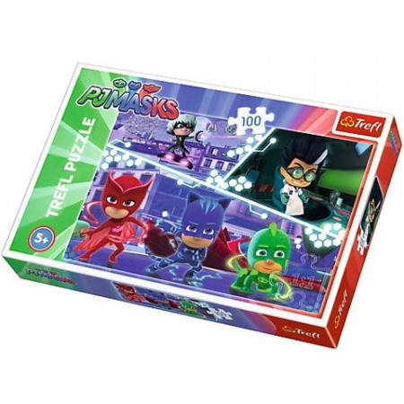 Puzzle Eroi in Pijama 100 piese