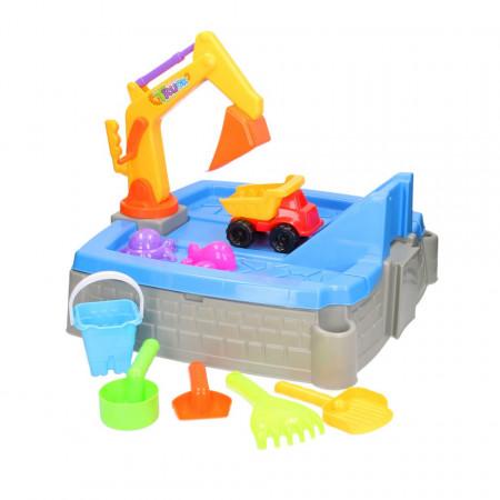 Set de joaca de nisip cu excavator