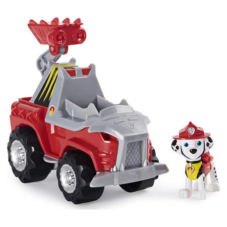 Set de joaca Marshall si Super vehiculul Rev-Up Paw Patrol Dino Rescue - Patrula Catelusilor