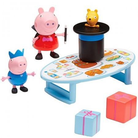 Set de joaca Peppa Pig George si Peppa magicieni