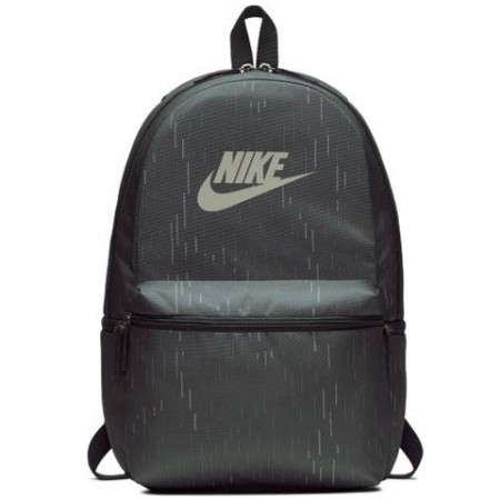 Ghiozdan rucsac Nike verde inchis cu buzunar frontal, dimensiune 50 cm
