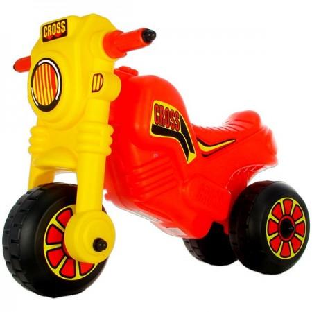 Motocicleta fara pedale Motor Cross rosu cu galben