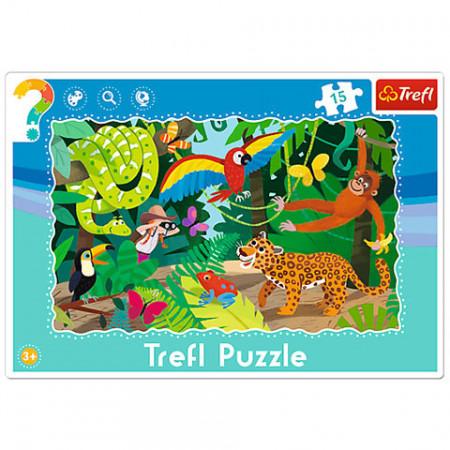 Puzzle Padurea Tropicala 15 piese