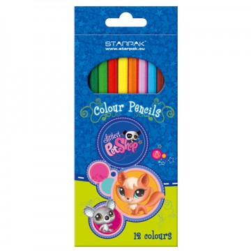 Poze Set 12 Creioane Colorate Littlest Pet Shop