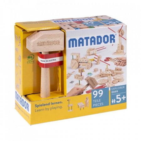 Set de constructie din lemn 99 piese Matador Explorer