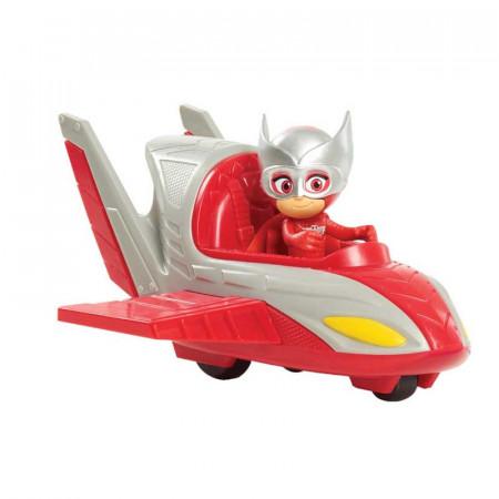 Set de joaca Eroi in Pijama, masinuta Owl Glider si figurina Bufnita (Owl)