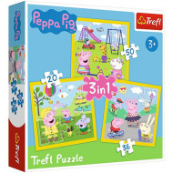 Puzzle Peppa Pig 3 in 1 - 20, 36 si 50 piese