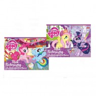 Bloc de Desen A4 cu 10 coli colorate din carton My Little Pony
