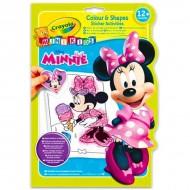 Carte de colorat cu abtiblduri Minnie Mouse