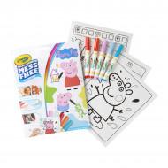 Carte de colorat Peppa Pig cu carioci magice Mess Free Crayola