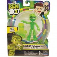 Figurina articulata translucenta Ben 10 Glitch Ben
