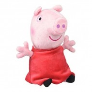 Figurina de plus Peppa Pig 20 cm Purcelusa Peppa cu sunete