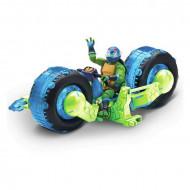 Figurina Leonardo pe motocicleta - Testoasele Ninja - Teenage Ninja Mutant Turtles