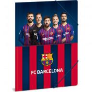 Mapa cu elastic rosu - albastru cu jucatori A4 FC Barcelona