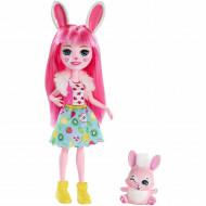 Papusa Bree Bunny cu breton si figurina Twist EnchanTimals