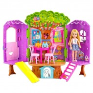 Papusa Chelsea blonda si casuta din copac - Barbie