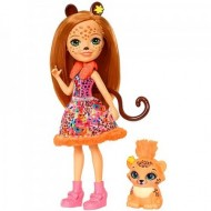 Papusa Cherish Cheetah si figurina Quick-Quick EnchanTimals