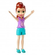Polly Pocket figurina Lila in tricou mov cu model iepuras