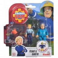 Set 2 Figurine Sam Pompierul - Penny si Gareth