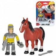 Set 2 Figurine Sam Pompierul - Sam si Calul