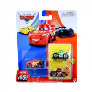 Set 3 masinute metalice Tim, Brick, Fulger McQueen Mini Racers Disney Cars