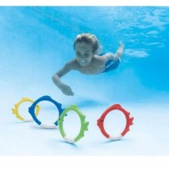 Set 4 pestisori de jucarie pentru piscina Intex
