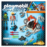 Set de joaca Submarinul agentilor secreti Top Agents Playmobil