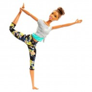 Papusa Barbie Made To Move flexibila Yoga bruneta