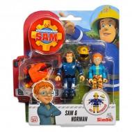 Set 2 Figurine Sam Pompierul - Sam si Norman