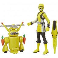 Figurina Power Ranger cu accesorii - Yellow Ranger si Morphin Jax Beastbot
