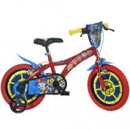 """Bicicleta pentru copii cu roti ajutatoare 14"""" Patrula Catelusilor"""