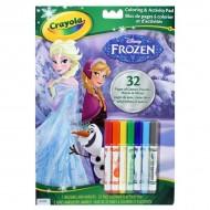 Carte de colorat Frozen cu carioci Crayola