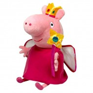 Figurina de plus Peppa Pig 20 cm Zana Printesa Peppa