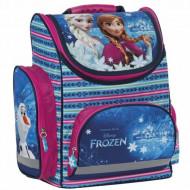 Ghiozdan ergonomic Printesele Disney Elsa si Anna Frozen, cu pereti rigizi, 35 cm