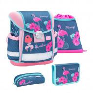 Ghiozdan scoala echipat Belmil Classy - Flamingo Paradise