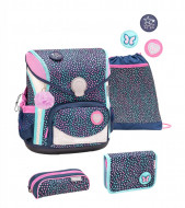 Ghiozdan scoala echipat Belmil Cool Bag - Polka Dot