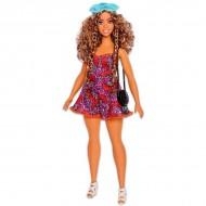 Papusa Barbie Fashionistas creola cu parul cret