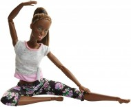 Papusa Barbie Made To Move flexibila Yoga mulatra