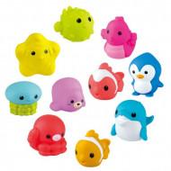 Set 10 jucarii pentru baie animalute marine colorate