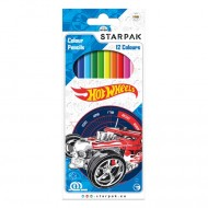 Set 12 Creioane Colorate Starpak Hot Wheels