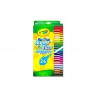 Set 24 de carioci lavabile cu varf subtire Crayola