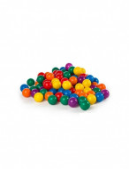 Set bile colorate din plastic 60 buc