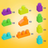 Set constructie 25 piese Mega Bloks Fisher Price - Hipopotamul aiurit