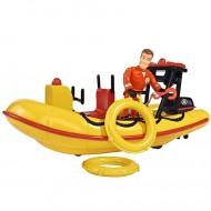 Set de joaca Barca de Salvare Neptun cu sunete si Figurina Sam Pompierul