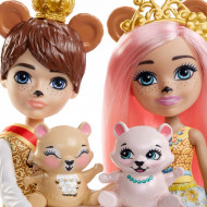 Set de joaca Braylee Bear si Bannon Bear Enchantimals Royal