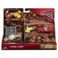 Set de masinute T-Bone si Jimbo Crazy 8 Crashers Cars 3