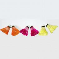 Set fluturasi de badminton colorati Vektory