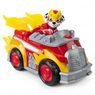 Set Marshall si Super Masina de Pompieri cu sunete si lumini Paw Patrol Mighty Pups - Patrula Catelusilor