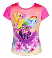 Tricou cu maneci roz My Little Pony marime 110