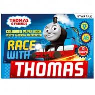 Bloc de desen cu 10 foi colorate A5 Thomas si Prietenii